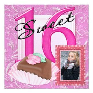 La foto del dulce 16 invita comunicado personal