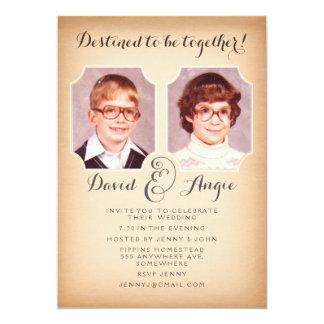 La foto divertida del boda de las fotos de la invitación 12,7 x 17,8 cm