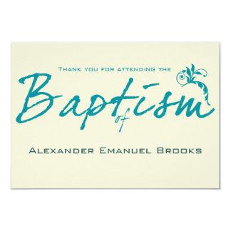 La foto elegante del bautismo del trullo le invitación 8,9 x 12,7 cm