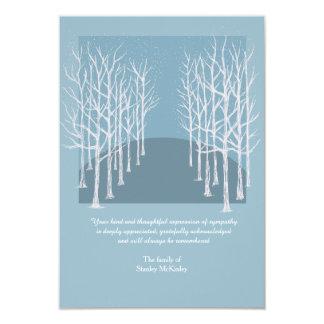 La foto fúnebre de los árboles desnudos le invitación 8,9 x 12,7 cm