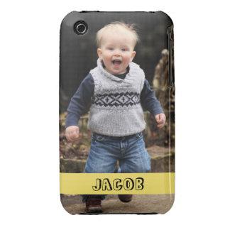 La foto grande personaliza su propia banda funda para iPhone 3 de Case-Mate