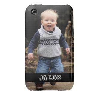 La foto grande personaliza su propia banda negra funda para iPhone 3 de Case-Mate