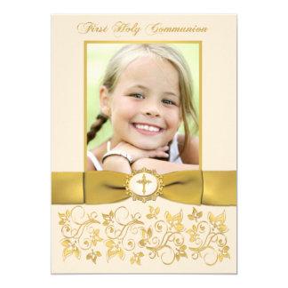 La foto IMPRESA de la comunión santa de la CINTA Invitación 12,7 X 17,8 Cm