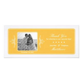 La foto intemporal del boda del encanto le invitación 10,1 x 23,5 cm