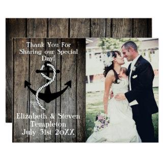 La foto náutica del boda le agradece cardar invitación 12,7 x 17,8 cm