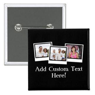 La foto personalizada 3-Photo enmarca color de Chapa Cuadrada