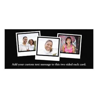 La foto personalizada 3-Photo enmarca color de Tarjetas Publicitarias