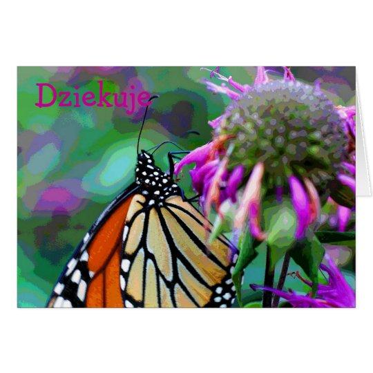 La foto polaca de la naturaleza de la mariposa le tarjeta pequeña