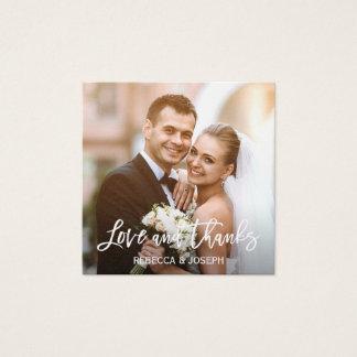 La foto rústica del boda del cordón del tarro de tarjeta de visita cuadrada