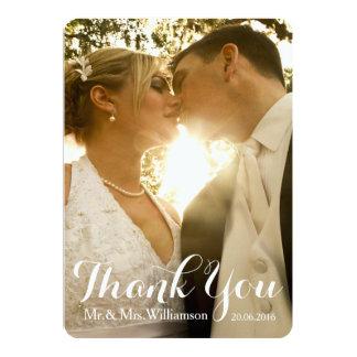 La foto simple del boda de la escritura le invitación 12,7 x 17,8 cm
