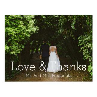 La foto simple del boda del amor y de las gracias postal