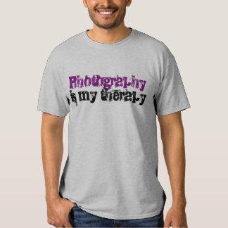 """La """"fotografía es camiseta de mi terapia"""""""