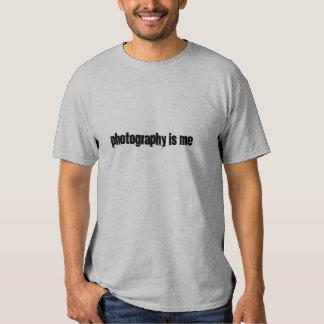 La fotografía es yo camiseta