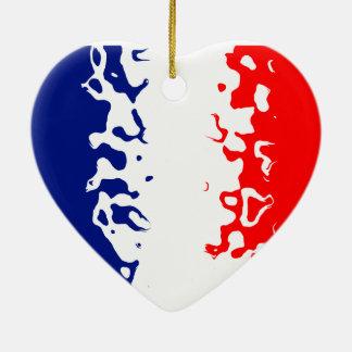 La Francia de Vive Adorno De Cerámica En Forma De Corazón