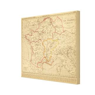La Francia un mort de Clovis en 510 del la Impresión En Lienzo