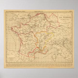 La Francia un mort de Clovis en 510 del la Póster