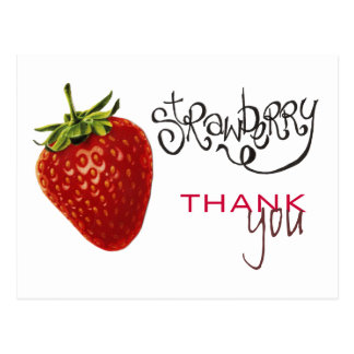 La fresa le agradece observar la postal