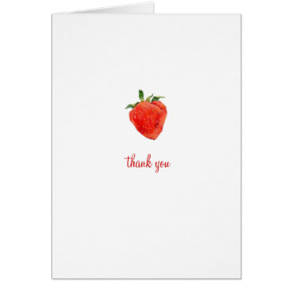 La fresa le agradece tarjeta de nota