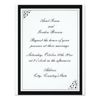 La frontera negra puntea la invitación del boda
