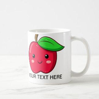 La fruta Apple rojo de Kawaii asalta Taza De Café