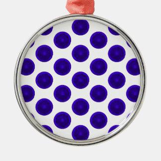 La fruta cítrica azul corta lunares ornamentos para reyes magos