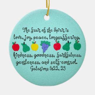 La fruta del alcohol ornamento de navidad