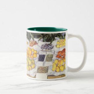 La fruta hace una pausa Caillebotte, impresionismo Taza De Dos Tonos