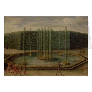 La fuente del Bacchus en Versalles Tarjeta De Felicitación