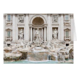 La fuente del Trevi (italiano: Fontana di Trevi) Tarjeta De Felicitación