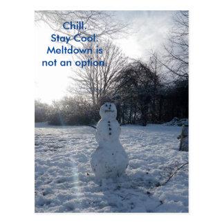 La fusión desapasible del muñeco de nieve no es postal