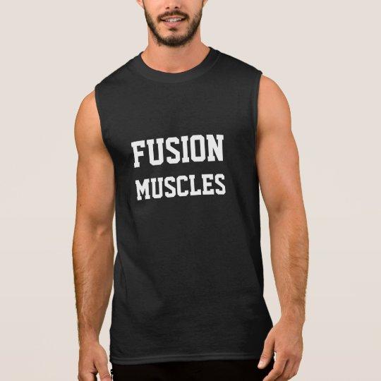 La fusión Muscles la camisa sin mangas