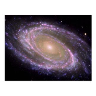 La galaxia M81 es bonita en rosa Postal