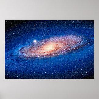 La galaxia para NES, poster del Andromeda del arte
