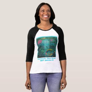 🐠 la galería del raglán de las señoras Debajo-T Camiseta