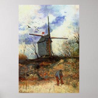 La Galette de Le Moulin de Vincent van Gogh Póster