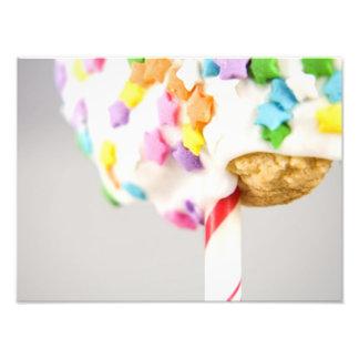 La galleta de Lolipop con asperja Fotografias