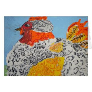 La gallina más grande nunca tarjeta de felicitación