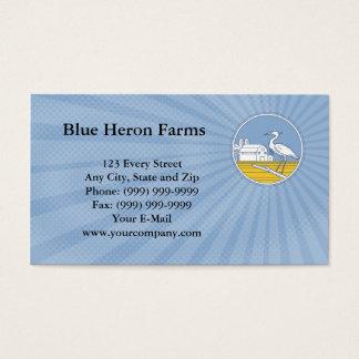 La garza azul cultiva la tarjeta de visita