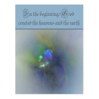 La génesis 1 en dios del principio creó los cielos postal
