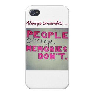 La gente cambia, las memorias no llama por teléfon iPhone 4/4S funda