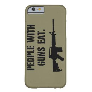 La gente con los armas come la caja del teléfono funda barely there iPhone 6