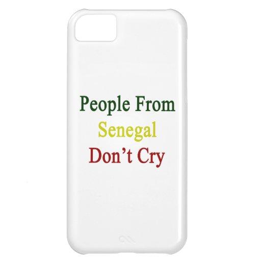La gente de Senegal no llora