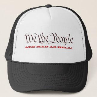 La gente estamos enojados como gorras del infierno
