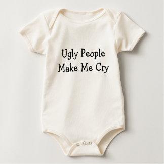 """La """"gente fea me hace camisa del bebé del grito"""""""