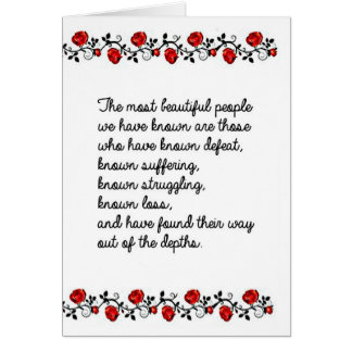 La gente hermosa apenas no sucede tarjeta de felicitación