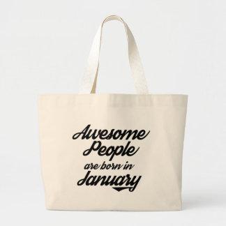 La gente impresionante nace en enero bolso de tela gigante