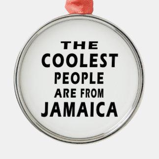 La gente más fresca es de Jamaica Adorno Navideño Redondo De Metal