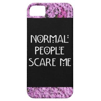 La gente normal me asusta caso de Iphone 5/5S iPhone 5 Case-Mate Carcasas