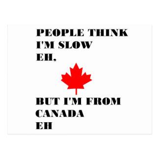 La gente piensa que soy lento eh