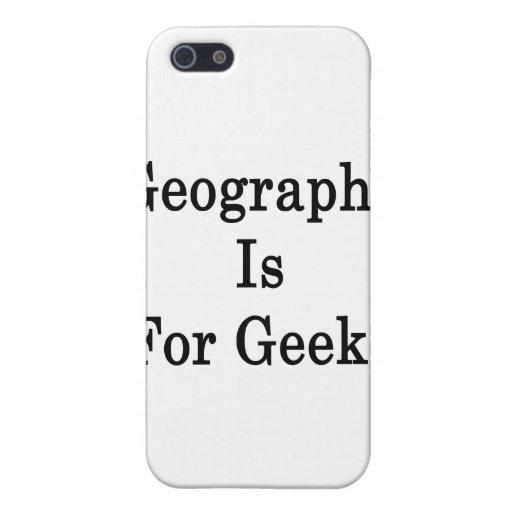 La geografía está para los frikis iPhone 5 fundas